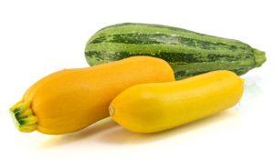 zucchini and yellow zucchini