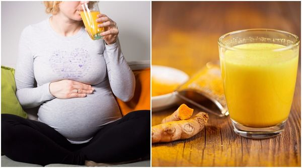 turmeric milk during 9 month pregnancy